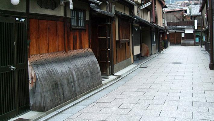 立ち並ぶ京町家